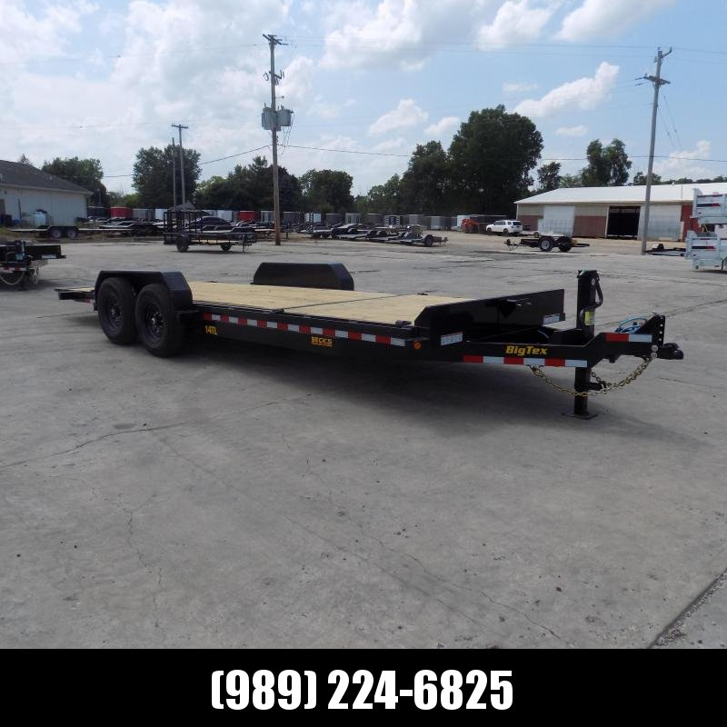 "New Big Tex 83"" x 22' Tilt Deck Equipment Trailer For Sale - $0 Down & Payments From $119/mo. W.A.C."