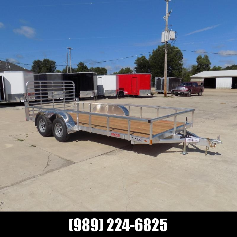 New Legend Open Deluxe 7' x 16' Aluminum Utility Trailer - $0 Down & Payments From $95/mo. W.A.C.