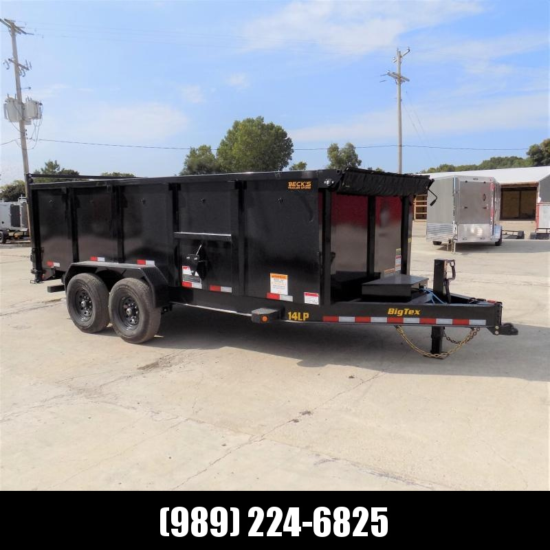 """New Big Tex Trailers 7' x 16' Low Pro Dump Trailer With 48"""" Sides - $0 Down Financing Available"""