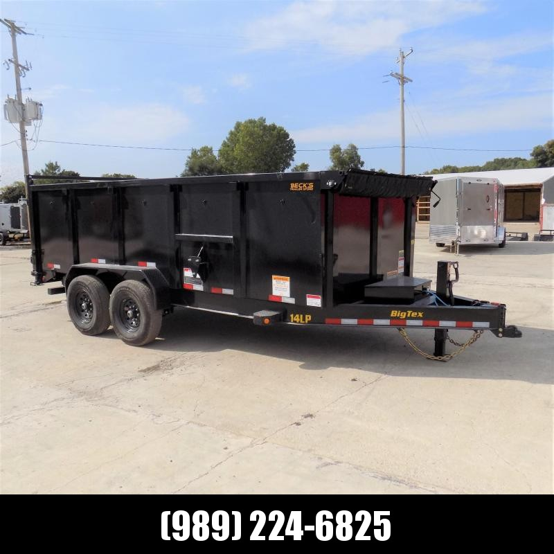 "New Big Tex Trailers 7' x 16' Low Pro Dump Trailer With 48"" Sides - $0 Down Financing Available"