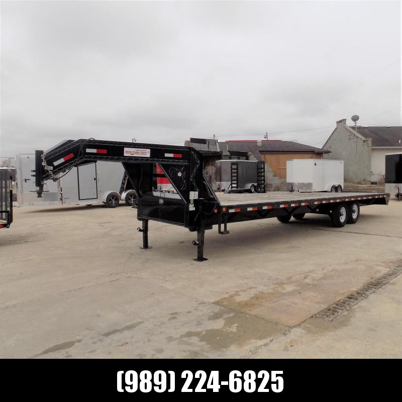 """Used Load Trail 102"""" x 30' Gooseneck Equipment Trailer For Sale - New Trade!"""