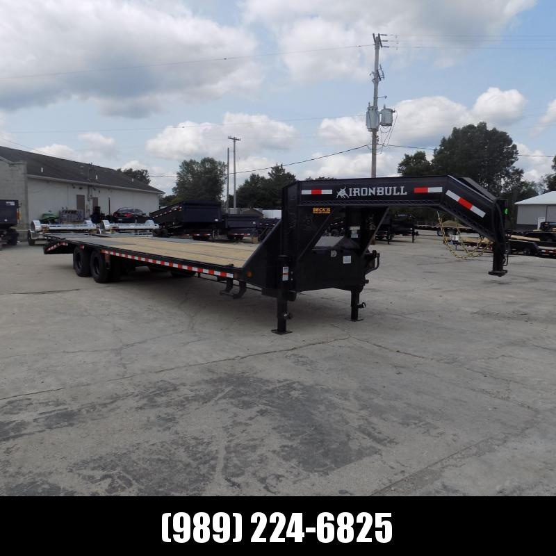"""New Iron Bull Trailer 102"""" x 32'' Gooseneck Trailer With Max Ramps - $0 Down & Finance Options Available"""