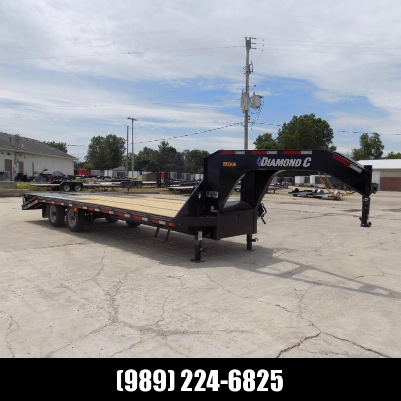 "New Diamond C Trailers 102"" x 25' Gooseneck Equipment Trailer With 25K Weight Rating"