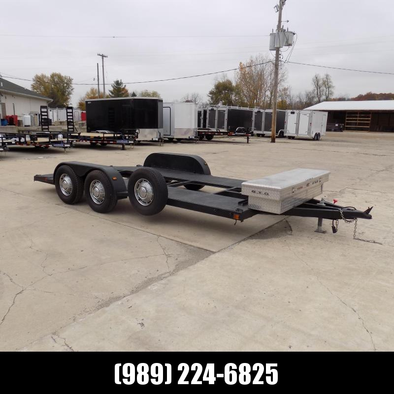 Used 7' x 16' Open Car Hauler For Sale - Winch & Slide-In Ramps
