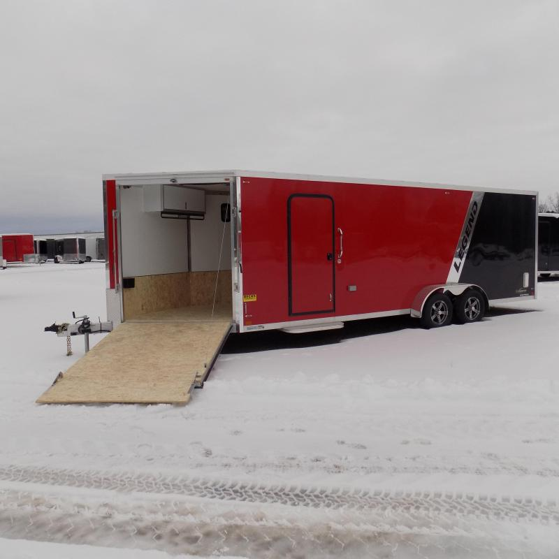 New Legend Explorer 7' x 27' Snowmobile Trailer - $0 Down & Payments From $149/mo. W.A.C - Come See America's Largest Snow/ATV Trailer Inventory!