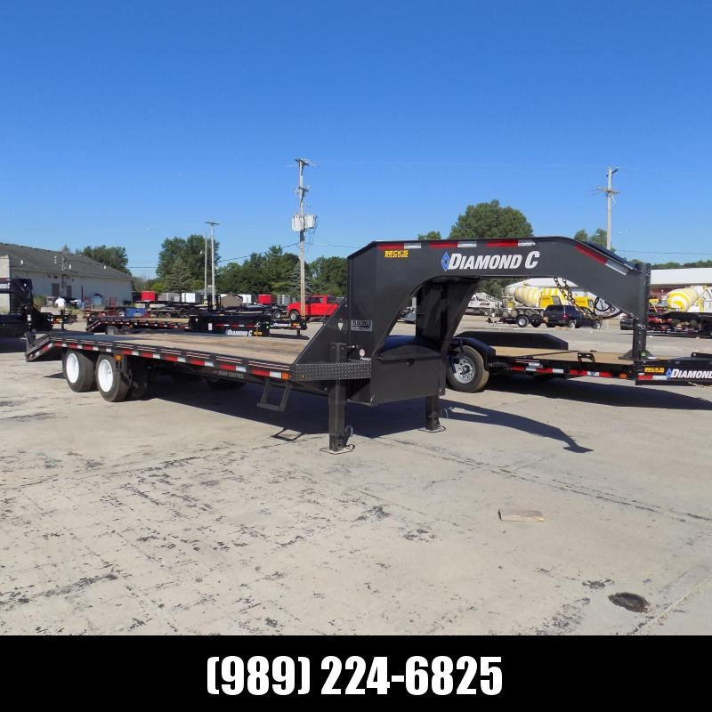 "New Diamond C Trailers 102"" x 25' Gooseneck Equipment Trailer With 25.9K Weight Rating"