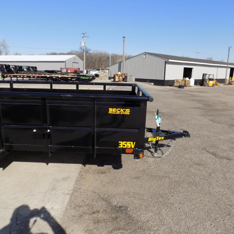New Big Tex 10TV 6.5' x 12' Utility/Landscape Trailer With Solid Sides - $0 Down Financing Available