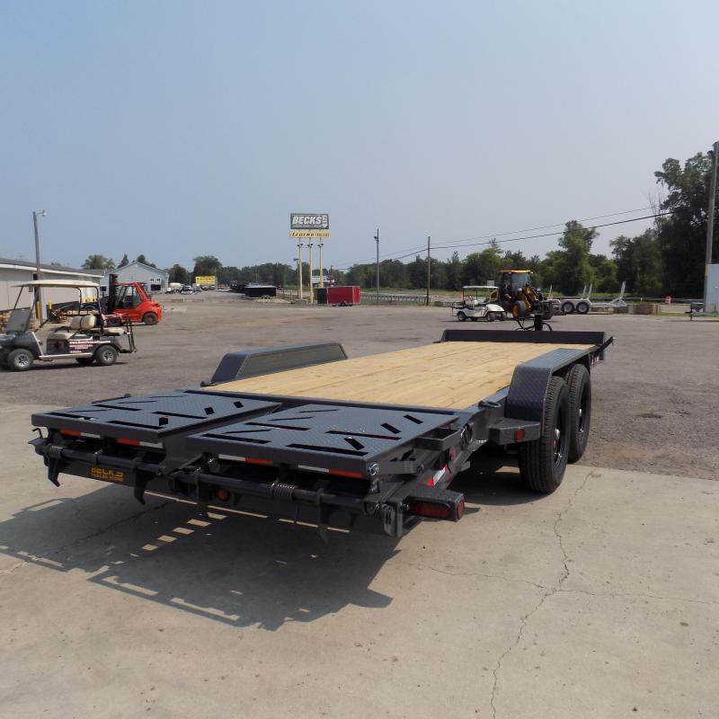 New Iron Bull 7' x 20' Equipment Trailer/Car Hauler - 7 Gage Floor - Flexible $0 Down Financing Available