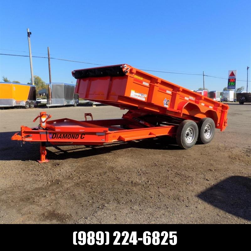 "New Diamond C 82"" x 14' Low Profile Dump Trailer - $0 Down & payments From $139/mo. W.A.C."