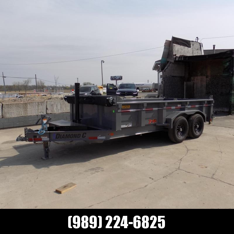 """New Diamond C Trailers 82"""" x 14' Low Profile Dump W/ Telescopic Lift & Torsion Axles - $0 Down & Payments From $159/mo. W.A.C."""