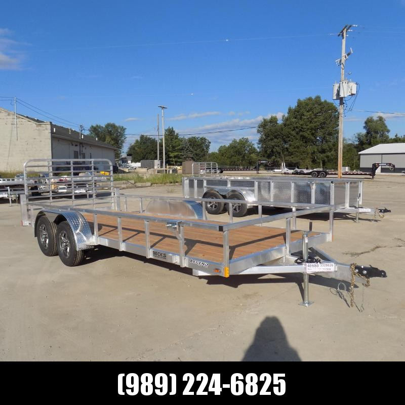 New Legend 7' x 18' Open Aluminum Equipment Trailer For Sale - $0 Down & Payments from $107/mo. W.A.C