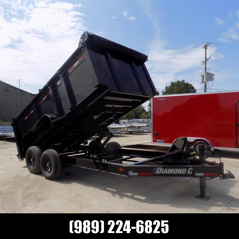 """New Diamond C Trailers 7' x 14' Low Profile Dump Trailer - 44"""" Sides - $0 Down With Financing Options Available"""