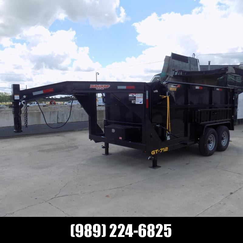 """New DuraDump 7' x 12"""" Gooseneck Dump Trailer For Sale - $0 Down & Payments From $135/mo. W.A.C."""