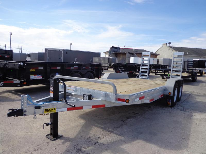 "New Galvanized 83"" x 18' Equipment Trailer For Sale"