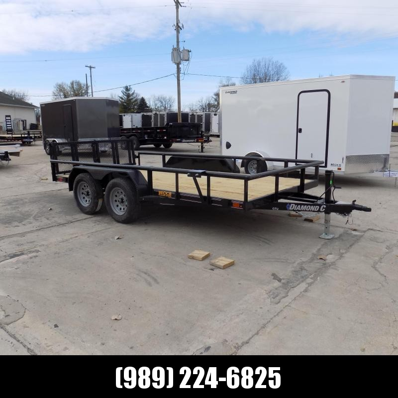 New Diamond C Trailers 7' x 14' Tandem Axle Utility Trailer With Bi-Fold Gate - $0 Down & $91/mo. W.A.C.