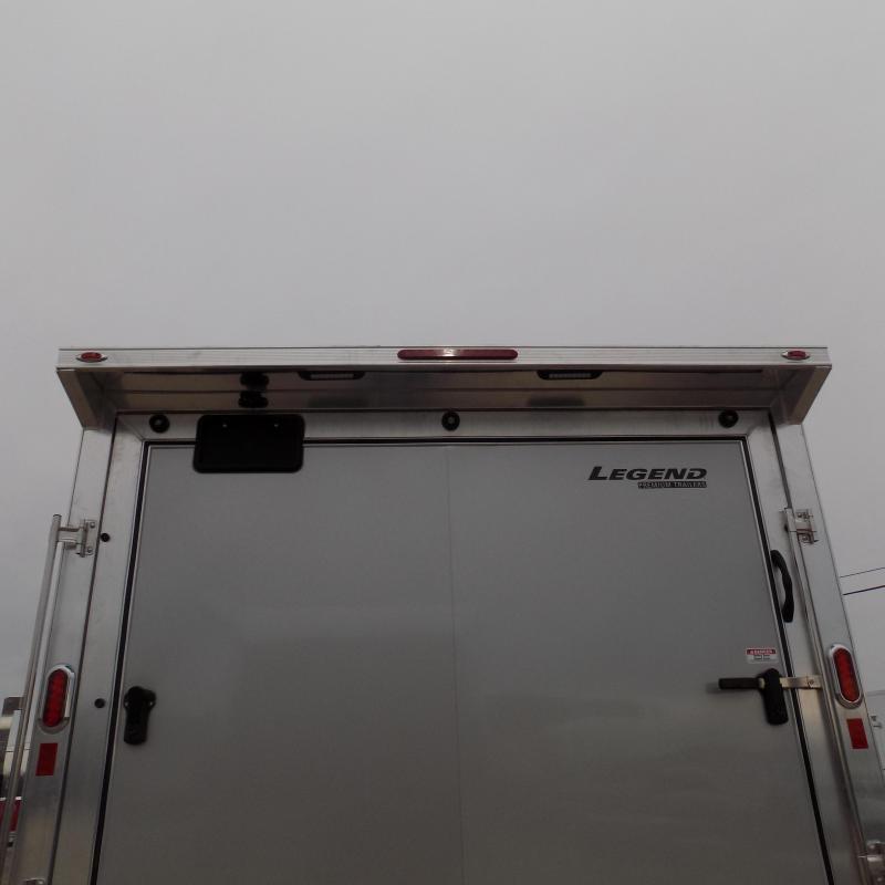 New Legend Trailmaster 8.5' x 20' Aluminum Race Series Trailer w/ Escape Door & Removable Fender