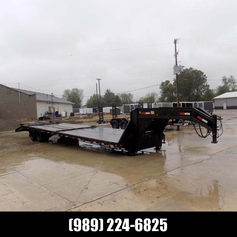 """Used Load Trail 102"""" x 36' Gooseneck Equipment Trailer With 12K Axles"""
