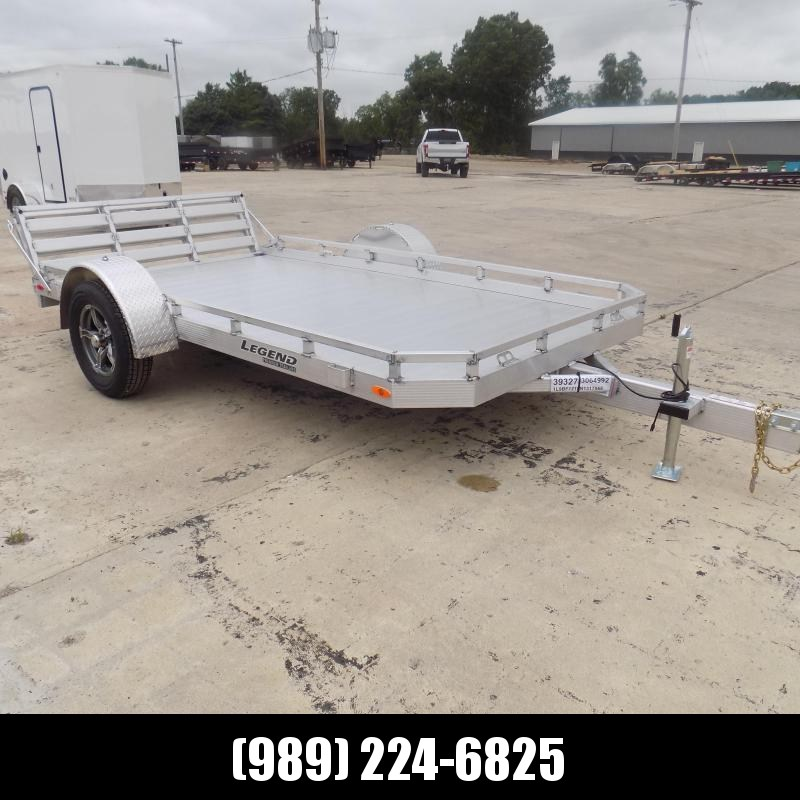 New Legend All Aluminum 7' x 12' Utility Trailer With Aluminum Deck & 3-Way Gate - $0 Down & $99/mo. W.A.C.