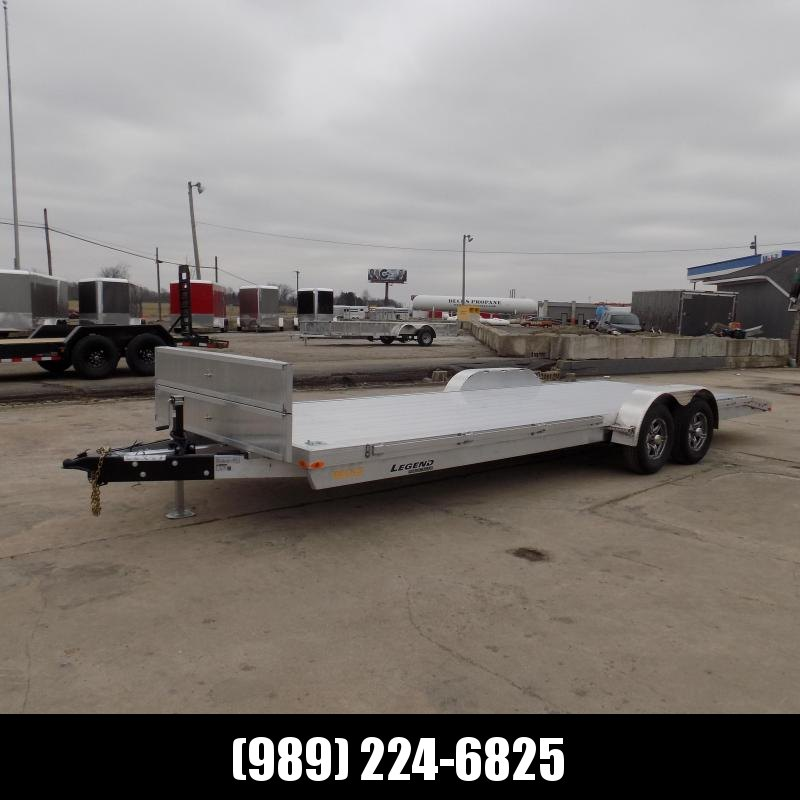 New Legend 7' x 24' Aluminum Open Car Hauler - 5200# Torsion Axles - $0 Down & Payments From $109/mo. W.A.C.