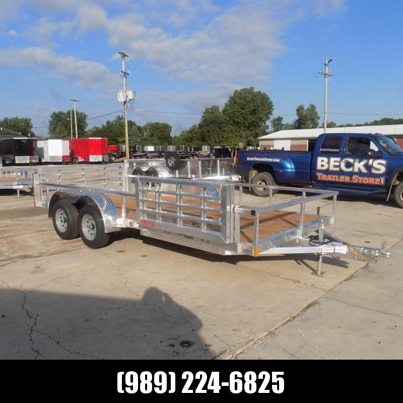 New Legend Open Deluxe 7' x 16' Aluminum Utility Trailer - $0 Down & Payments From $99/mo. W.A.C.