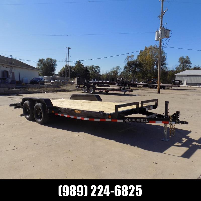 """New Iron Bull 83"""" x 18' Equipment Trailer For Sale - $0 Down & Payments From $105/Mo W.A.C"""