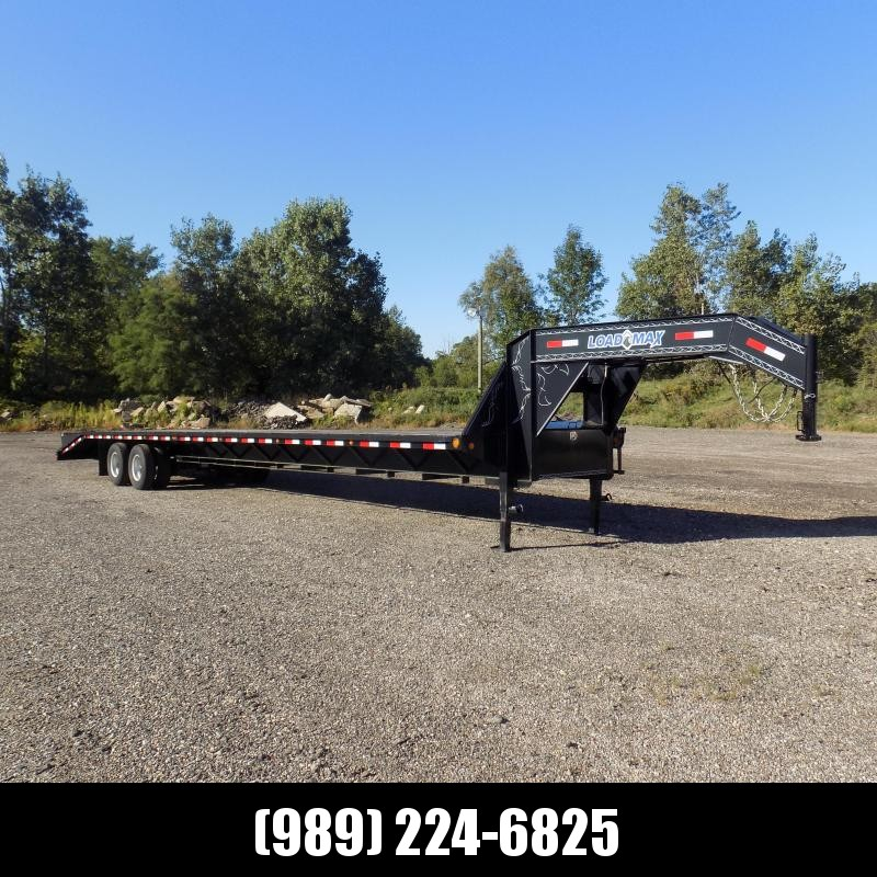 """Used Load Trail 102"""" x 40' Gooseneck Open Car Hauler/Heavy Equipment Trailer - Flexible $0 Down Financing Available"""