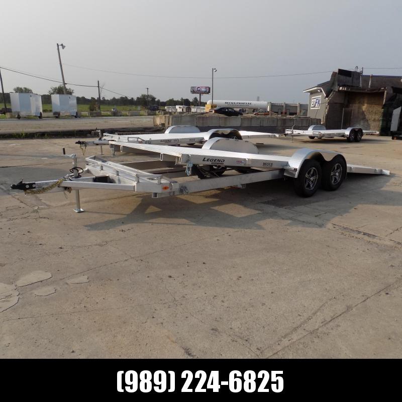 New Legend 7' x 24' Aluminum Tilt Deck Car Hauler - $0 Down & Payments From $149/mo. W.A.C.