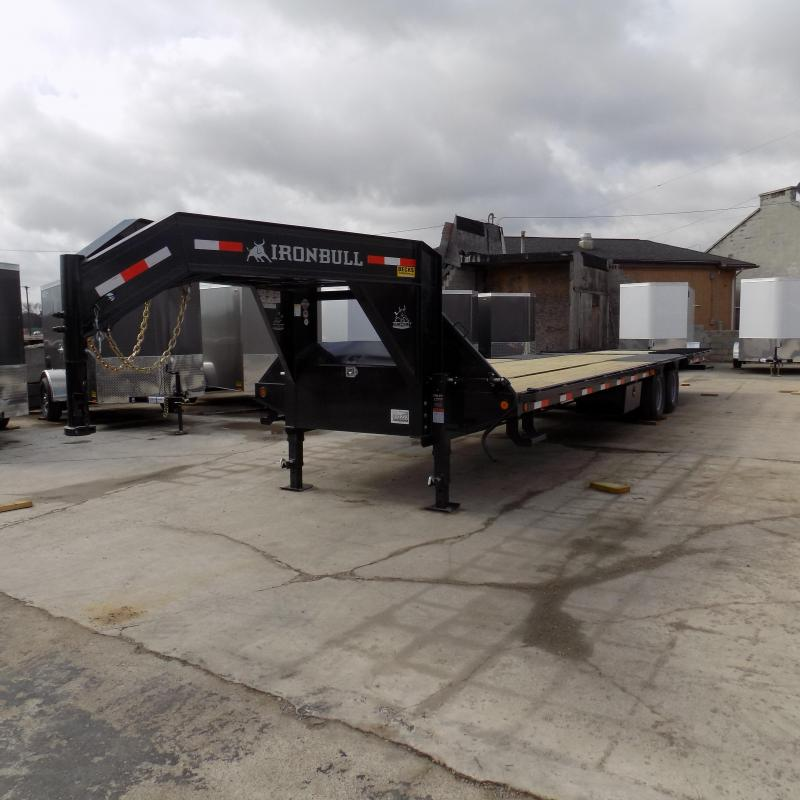 "New Iron Bull FHG 102"" x 32' Gooseneck Trailer With Hydraulic Dove"