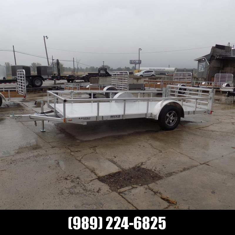 New Legend Open Deluxe 7' x 14' Aluminum Utility - Torsion Axle - $0 Down & Payments From $121/mo. W.A.C.