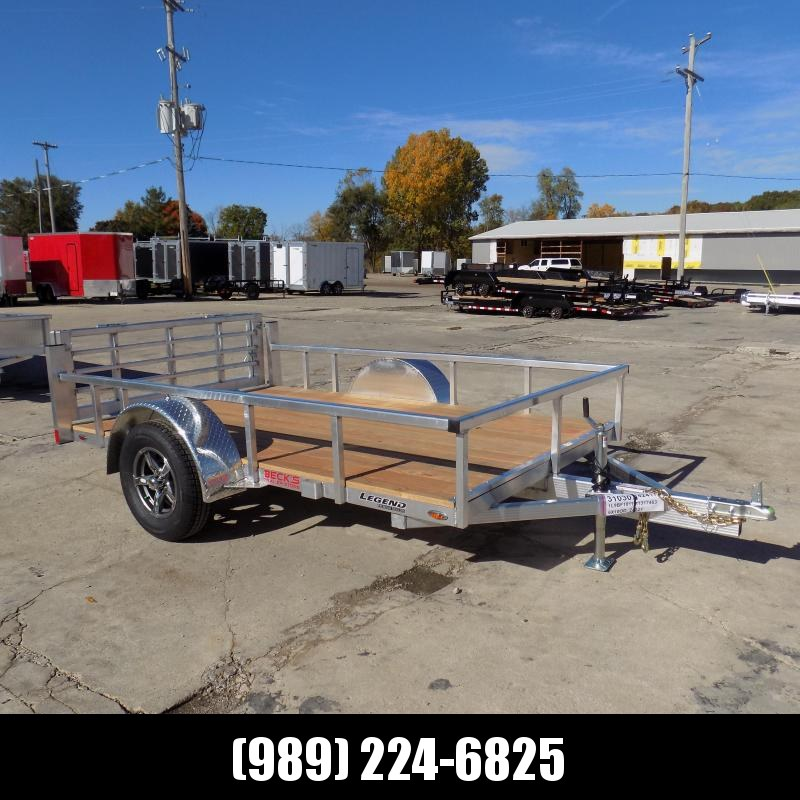 New Legend Open Deluxe 6' x 10' Aluminum Utility - $0 Down & Payments From $71/mo. W.A.C.