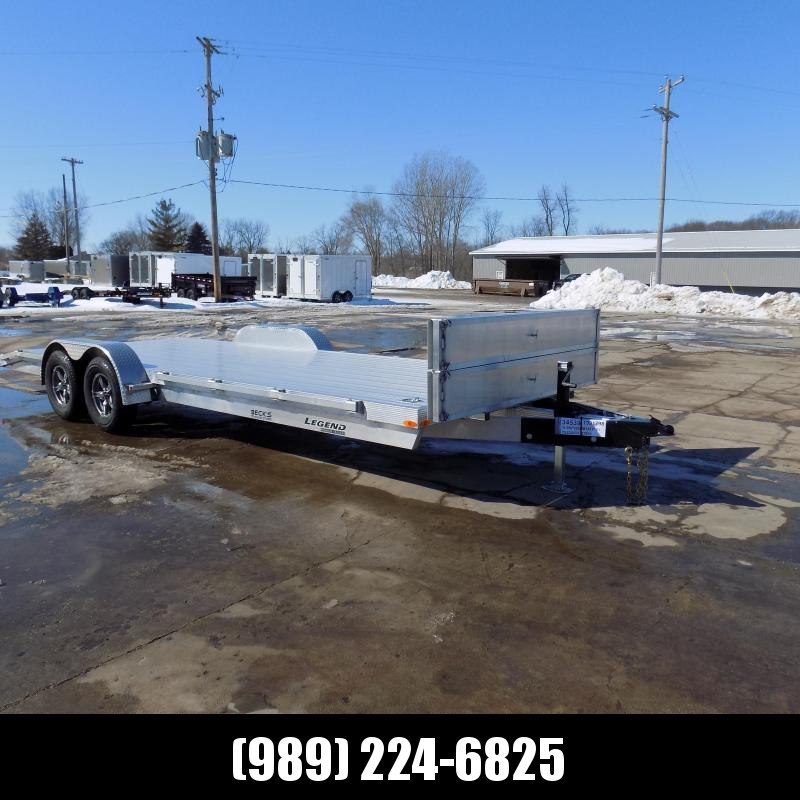 New Legend 7' x 22' Aluminum Open Car Hauler - Torsion Axles - $0 Down & Payments From $119/mo. W.A.C.