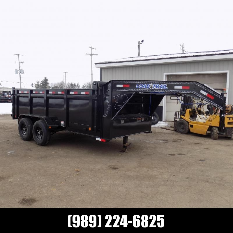 "New Load Trail 7' x 14' Gooseneck Dump Trailer With 36"" Sides - $0 Down & Payments from $149/mo. W.A.C."