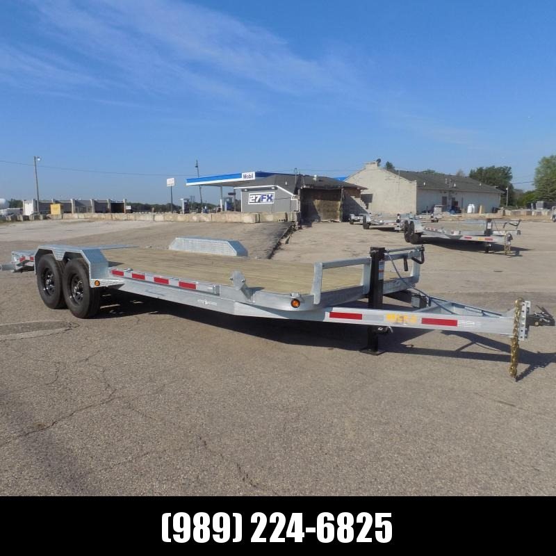 New Galvanized 7' x 22' Equipment Trailer - Corrosion Resistant  - $0 Down & Payments From $145/mo. W.A.C.