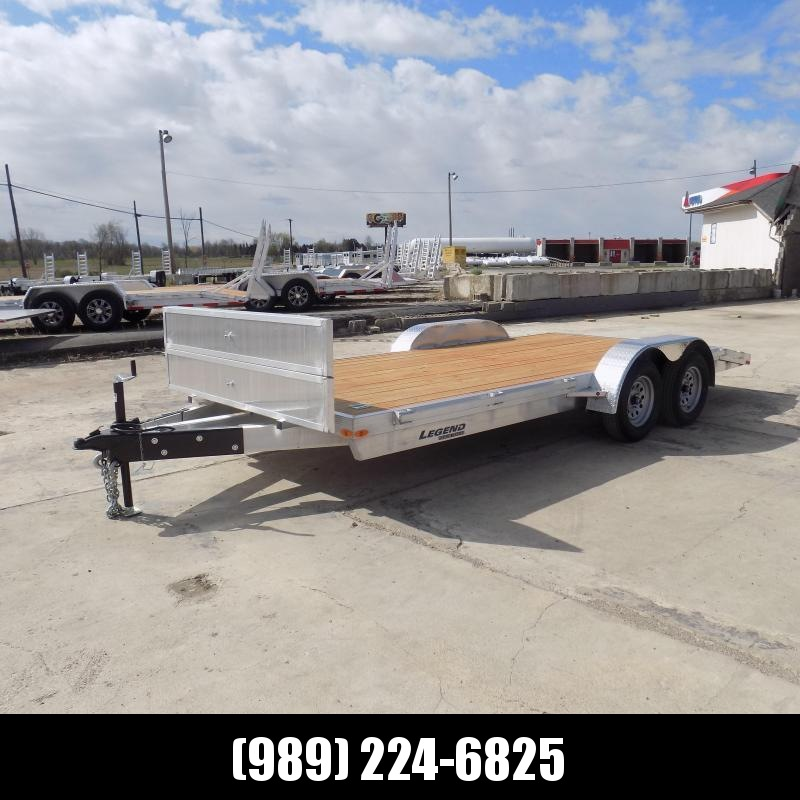 New Legend 7' x 16' Aluminum Open Car Hauler - Torsion Axles - $0 Down & Payments From $125/mo. W.A.C.