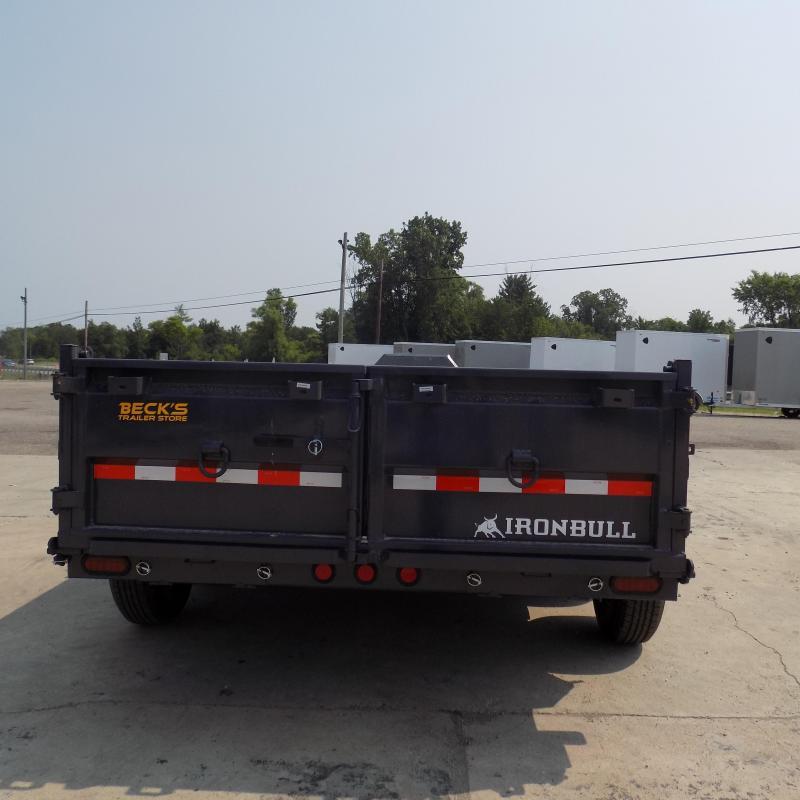 New Iron Bull 7' x 14' Dump Trailer - 7 Gage Floor - Flexible $0 Down Financing Available
