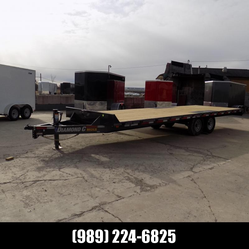 "New Diamond C 102"" x 24' Deckover Equipment Trailer For Sale - $0 Down & Payments From $125/mo. W.A.C."