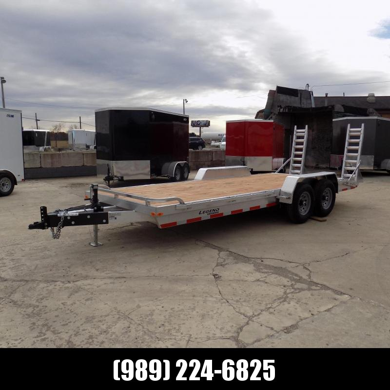 New Legend 7' x 20' Aluminum Equipment Trailer With Nearly 12K Payload Capacity - $0 Down & Payments from $129/mo. W.A.C.