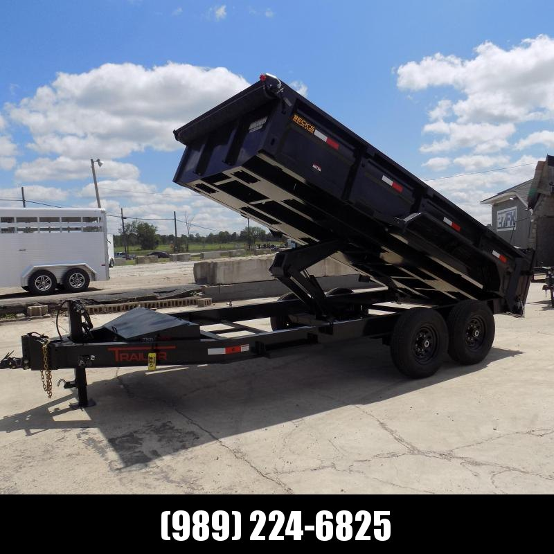 """New ED Trailer 83"""" x 14' Dump Trailer - with 7K Axles - $0 Down and  $151/Mo Payments W.A.C"""