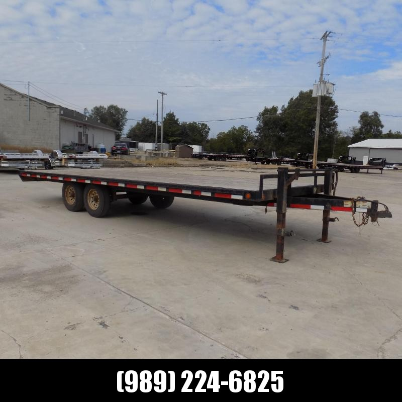 Used Load Trail 8' x 20' Deckover Equipment Trailer For Sale - $0 Down & Flexible Financing Available