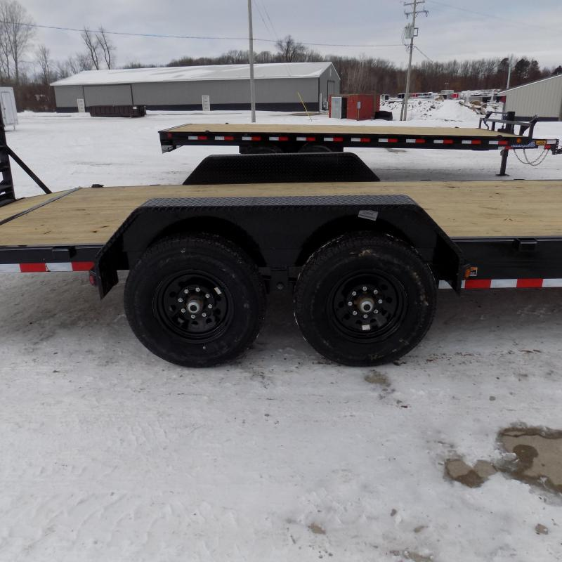 New Load Trailer 7' x 22' Car Hauler Trailer For Sale With 7K Axles - $0 Down Financing Available