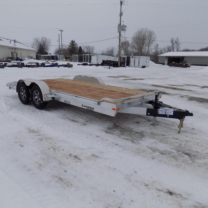 New Legend 7' x 18' Aluminum Open Car Hauler - Torsion Axles - $0 Down & Payments From $113/mo. W.A.C.