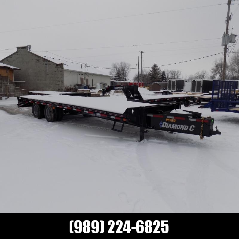 """New Diamond C Trailers PX 102"""" x 25' Equipment Trailer w/ Pintle Hitch and 25K Weight Rating - $0 Down & $169/mo. W.A.C."""