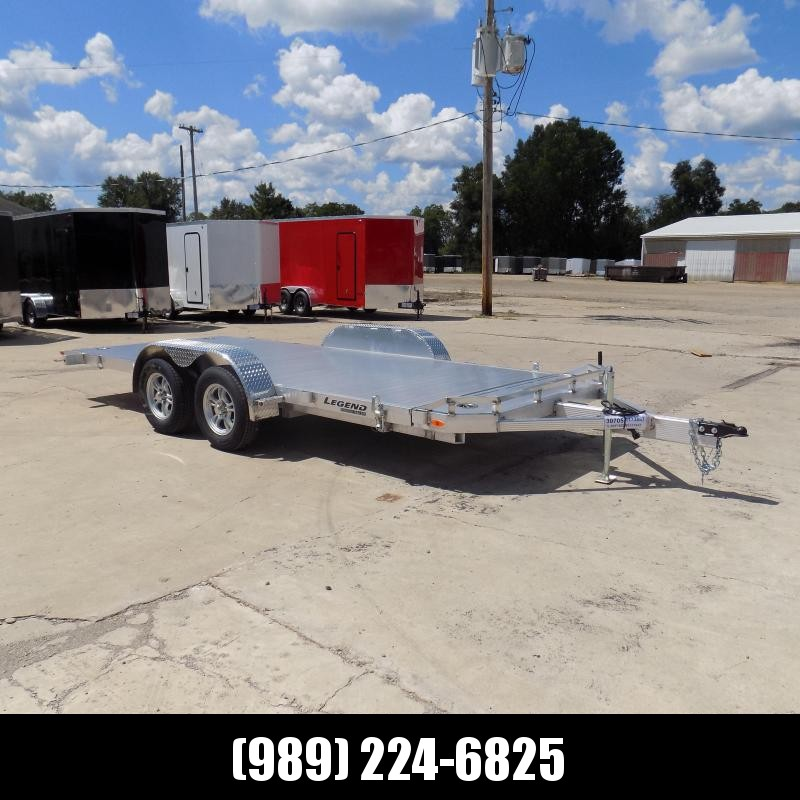 New Legend 7' x 18' Aluminum Tilt Deck Car Hauler - $0 Down & Payments From $125/mo. W.A.C.