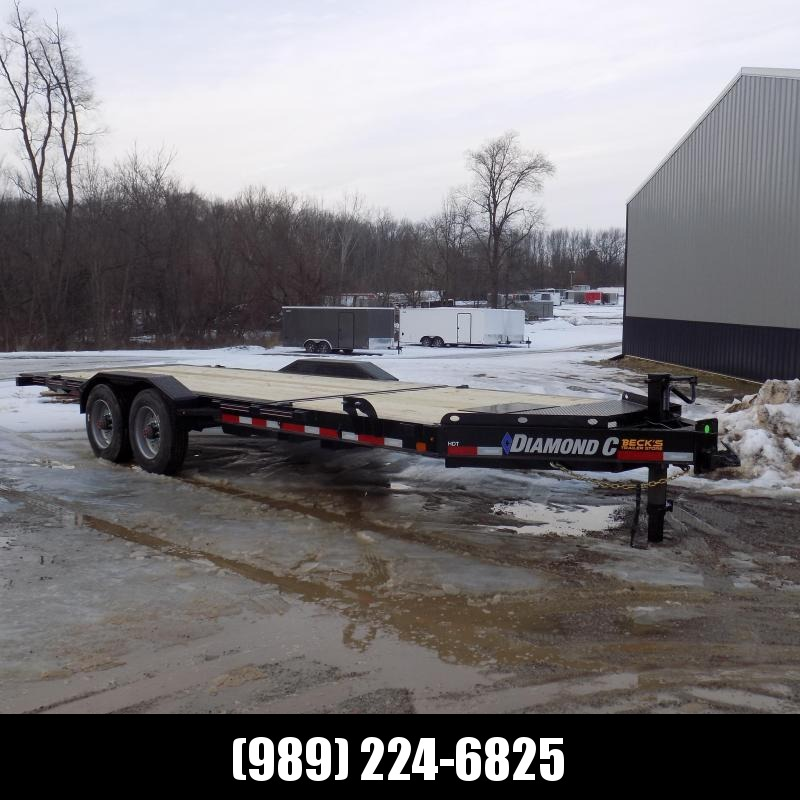 "New Diamond C HDT 82"" x 22' Tilt Deck Equipment Trailer - 10K Torsion Axles - Flexible $0 Down Financing Options Available"