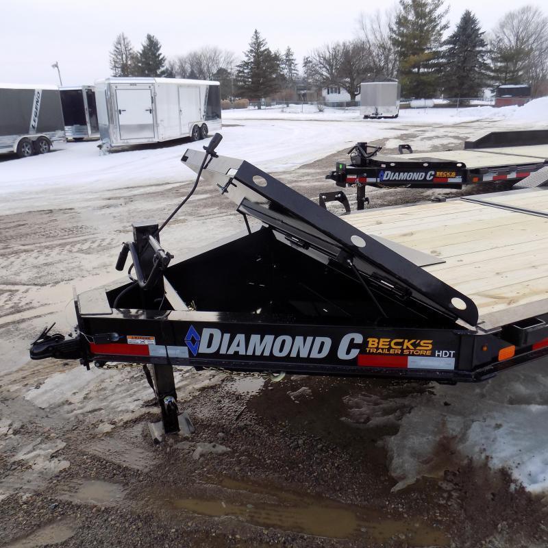 "New Diamond C HDT 82"" x 22' Tilt Deck Equipment Trailer - 10K Torsion Axles - Flexible $0 Down Financing Options Available"