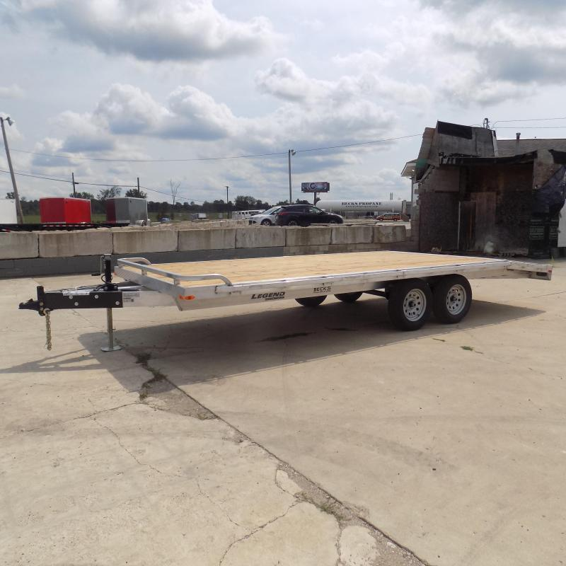 New Legend 8.5' x 20' All Aluminum Deckover Equipment Trailer - $0 Down & Payments From $119/mo. W.A.C.