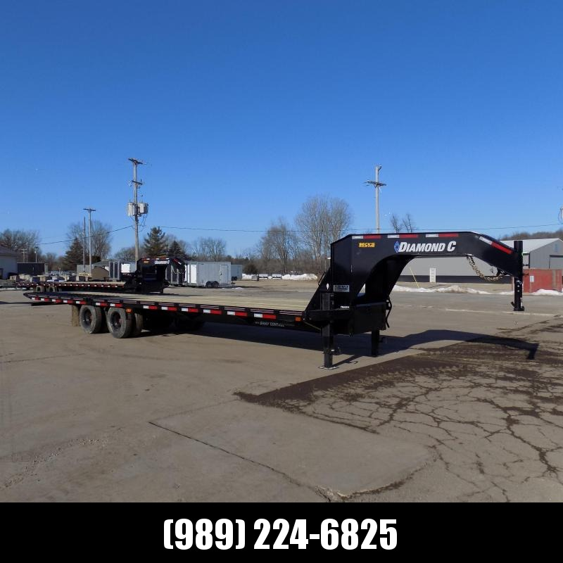 """New Diamond C Trailers 102"""" x 32' Gooseneck Equipment Trailer W/ 12' Hydraulic Dove - 25K Weight Rating - $0 Down Financing Available"""
