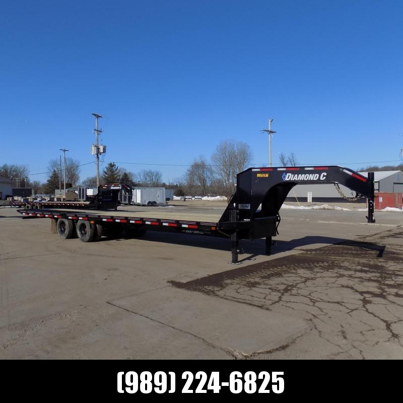 "New Diamond C Trailers 102"" x 32' Gooseneck Equipment Trailer W/ 12' Hydraulic Dove - 25K Weight Rating - $0 Down Financing Available"