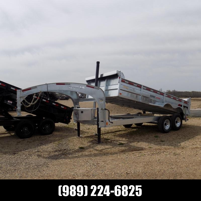"New Galvanized 82"" x 16' Gooseneck Dump Trailer with 24K Telescopic Lift - Corrosion Resistant - $159/mo. W.A.C."