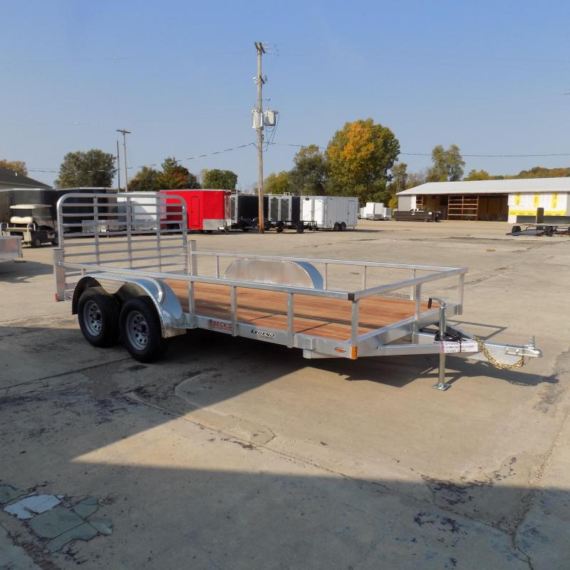 New Legend Open Deluxe 7' x 14' Aluminum Utility Trailer - $0 Down & Payments From $95/mo. W.A.C.